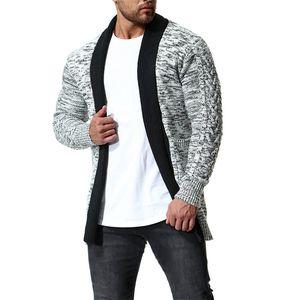 Chandails de cardigan pour hommes chandails de cardigan lambris de mode Casual manches longues couleurs naturelles chandails de designer pour hommes