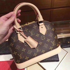 188LVLOUISVUITTONALMA BB shell bag women handbag leather flower Embossed shoulder bags crossbody bag Messenger handbags