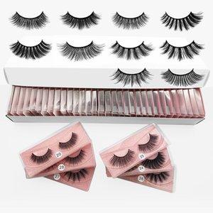 10 20 30 40 50Pairs Wholesale 3D False Eyelashes Mix Styles Fake Eyelash-Extension Faux Mink Synthetic Hair Makeup lashes