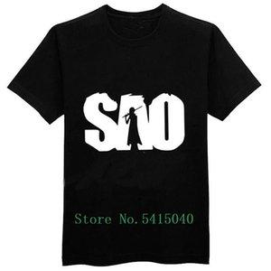 Sword Art Online тенниска Сао Мужские футболки 100% Летняя футболка Топы Тис Хлопок T-Shirt Мальчики Аниме Одежда