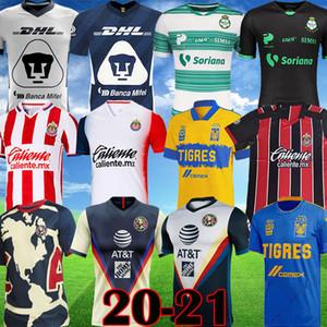 2020 2021 Liga MX Club América Futebol Jerseys 20 21 Unam Guadalajara Chivas Cougar México Tijuana Atlas Cruz Azul Laguna Camisa de Futebol