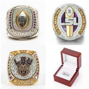 LSU Tigers 2019 2020 Geaux Orgeron National College Football Championship éliminatoire SEC Team Champions Anneau Fan Hommes Coffret Cadeau taille gros 11