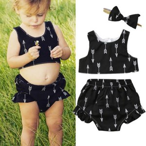 Hot fashion Lovely Newborn Baby Girls Sleeveless Crop Tops Shorts Outfits Sets Clothes