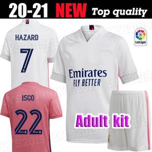 Kurz Home Away Dritte Fußball-Kit GEFAHR Fußball ZIDANE BENZEMA Shirt Camiseta De Futbol Männer-Sets 20 21 Real Madrid Fußball-Trikots