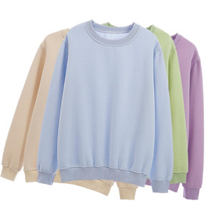 Basic Cotton Crewneck Hoodie Sweatshirts for Women Kpop Ulzzang Sweatshirt Female Spring Solid Colour Hoodies Sudadera Mujer