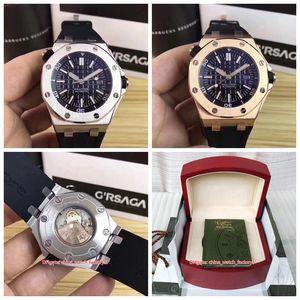 20 Estilo de calidad superior del reloj 42mm Royal Oak Offshore Diver 15710 15703 Gomas Asia 2813 relojes de movimiento mecánico automático para hombre de los hombres de