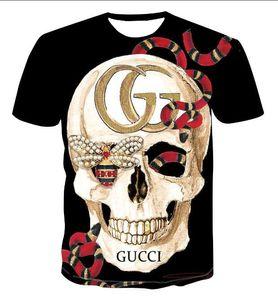 Para hombre verano diseñador de la camiseta camisa alemana de la roca del estilo de la moda grande del cráneo T Marca camisetas de la ropa de Hip Hop alta calidad camisetas