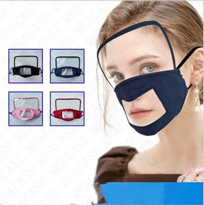 Face eye shield cotton transparent mask for adults kids anti dust haze protective visual face mask riding breathable mouth cover masks D7704
