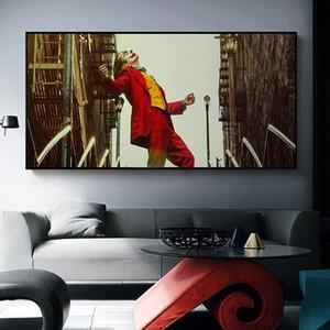 Classical Joaquin Phoenix lona do óleo famosa pintura The Joker Movie Poster Prints Pictures para sala Decoração Cuadros