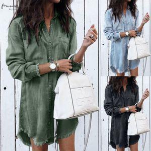 New Fashion Women Denim Shirt Long Sleeve Loose Blouse Lady Fashion Casual Jean Blouse Shirt Summer Tops Denim Shirt
