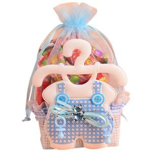 12шт Baby Shower конфеты подарочные пакеты Party Event Supplies украшения Cute Kid Бумага Baptism благосклонности подарка Сладкий День рождения сумка синий