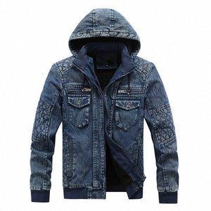 2020 후드 양털 데님 Jakets 남성 가을 겨울 데님 코트 진 재킷 새로운 패션 남성 착실히 보내다 캐주얼 코트 XL 4XL 남성 자켓 그리고 nW3d 번호