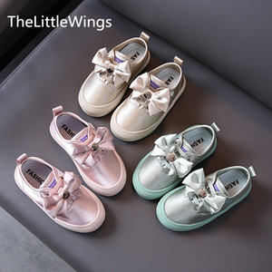 Children's shoes autumn 2020 new Korean version bowknot girls casual shoes 1-2-3 years old T200709