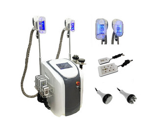Professional fat freezing slimming machine with cavitation rf lipo laser for body slimming 2 freeze fat heads can work at the same time