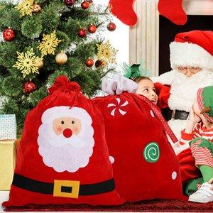 Gift Bag Babbo Natale spazzolato panno Candy Presente bagagli sacchetto di Natale Babbo Grande giocattolo del sacchetto regalo Wrap coulisse Borse Velvet