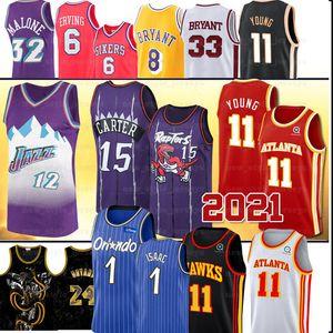 Картер NCAA 15 Винс Trae Молодой Джонатан Исаак Хок Джерси 33Bryant Нижний Мерион Карл 12 Стоктон Мэлоун College Basketball Джерси