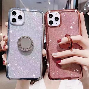 Glitter Diamond Ring Phone Case For iPhone 11 Pro Max XR X XS Max 8 7 6 6S Plus SE Soft Back Cover