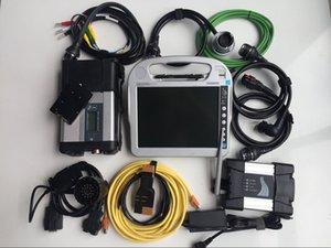 Mb Estrella C5 SD Compacto 5 y Icom Siguiente wifi para con el software en el ordenador portátil CF-H2 4G 1TB SSD herramienta de diagnóstico auto profesional