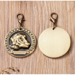 Blank Emboss Circle Pet ID Tags Dog Tags for Large Dogs 20pcs lot wholesale Zinc Alloy Dog Pendants