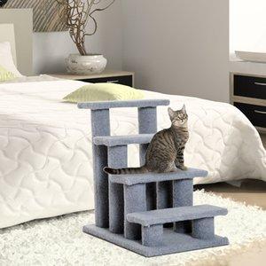 24'' Cat Tree 4-Step Stairway Perch Scratcher Pet Steps Stairs Dog Ramp Ladder
