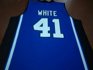 Custom Men Youth women Vintage Duke Blue Devils #41 Jack White College Basketball Jersey Size S-4XL or custom any name or number jersey