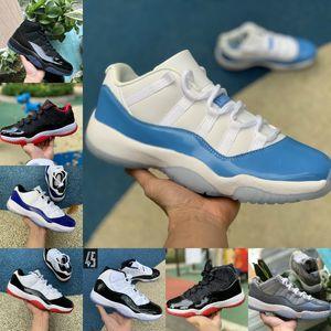 Venda Nova Bred 11s 11 Calçados Homens Mulheres de basquete Concord 45 Platinum Tint cereja boné e um vestido Space Jam Columbia Shoes Esporte Formadores