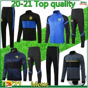 (20) (21) 남성 INTER 축구 훈련 축구 운동복 지퍼 자켓 2020 2021 축구 운동복 재킷 survetement chandal
