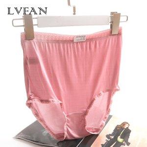 LVFAN sexy vita alta più i pantaloni del merletto di formato traccia Natura seta addome fianchi traspirante sudato morbido mutandine TGG-007