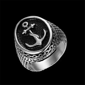 Доставка 1шт Free Worldwide Anchor кольцо 316L диапазон партия из нержавеющей стали ювелирных изделий способа Sailor Anchor кольцо