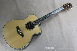 solid folk Chaylor 914CE Burlywood acoustic guitar real shell Mosaic body Ebony fingerboard guitar