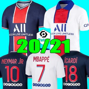 Maillot PSG Jersey 2021 Champion psg Soccer Jersey MBAPPE ICARDI GANA 20 21 Verratti Football Shirt Homme Enfant Kit de pied MAILLOT