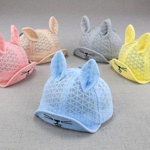 Cartoon Cat Newborn Baby Hat Summer Breathable Mesh Baby Boys Girls Cap With Ear Cute Kids Visor Caps Sun Hats Bonnet