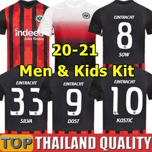 20 21 Eintracht Frankfurt Fußballtrikots PACIENCIA KOSTIC HALLER FERNANDES PLATZ FÜR VIELFALt 2020 2021 Fußballtrikot Männer Kinder-Kit Uniform