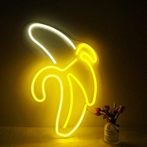 Cute neon lights party supplies girl room decoration accessories table decoration children's gifts Lip shape banana rainbow pineapple 10127