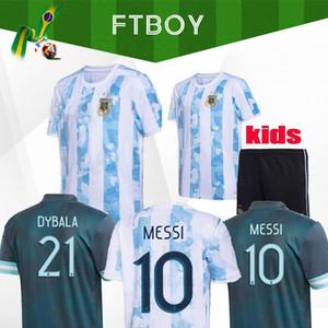 2020 2021 아르헨티나 Copa America 홈 멀리 축구 유니폼 20 21 Higuain Dybala 축구 셔츠 Aguero Icardi Mascherano Camiseta de Futbol