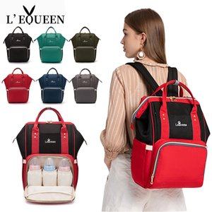 LEQUEEN Zipper Mummy Diaper Bags Maternity Handbags Large Capacity Women Travel Backpacks Waterproof Baby Nappy Nursing Bags