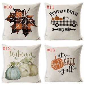 Halloween Pillow Case Pumpkin Sofa Throw Pillowcase Printed Pillow Cover Plaid Pillow Case Cover Pillowslip For Car Office Home Decor DHD355