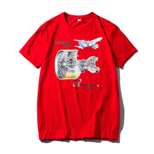 Men's round neck T-shirt Air Force No. 1 flight group youth couple culture shirt cotton short sleeve factory direct sales