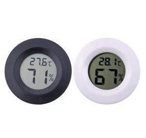 Aracı Ölçme Mini Yuvarlak LCD Dijital Termometre Higrometre Buzdolabı Dondurucu Tester Sıcaklık ve Nem Ölçer Dedektör Ev