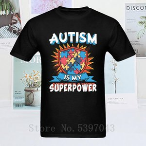 short sleeve Men T Shirt Autism is My Superpower Mens Tshirt Cool Sweatshirts Designer Geometric T-shirt Charity Tops Tees