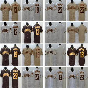 2020 NEW New Fernando Tatis Jr 23 Manny Machado 13 Tony Gwynn 19 Eric Hosmer Brown jersey Baseball Jerseys