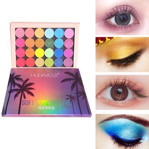 HUDAMOJI paleta de sombra de ojos, 24 colores, de alto brillo, mate perlas, pigmento de sombra de ojos, estilo hawaiano, TSLM2 maquillaje