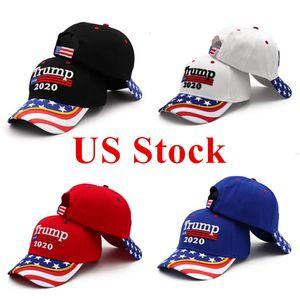 US Stock 2020 Election Trump Baseball Cap Snapbacks USA Flag Camouflage Sports Outdoor Cap November Presidential Election DHL Shipping