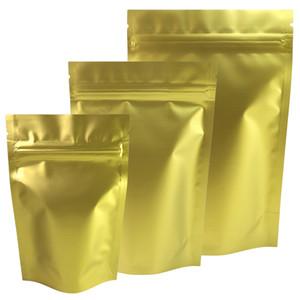 Großhandelsmasse Beutel klein ziplock Beutel der einen Seite Gold eine Seite transparente Fenster ziplock wiederverschließbaren Plastiktüten