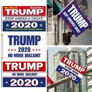 8 estilos Trump Bandeiras 2020 Eleição 150x90cm poliéster estampado Bandeira Trump Mantenha América Grande Donald para o presidente Campanha Bandeira FY6061