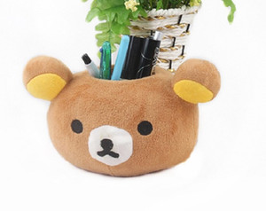 Pencil case office supplies cute plush pencil case Korean fashion stationery creative multi-functional cartoon pen container