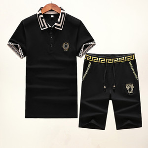 Summer Brand Sweatshirt Designer Men Tracksuit Outerwear Mens Tees Short Sleeve Pants Fashion Medusa Jogge Tracksuits