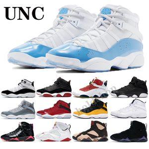 Jumpman 6 6s Ringe Basketball-Schuhe 2020 Momente Space Jam South Beach Confetti X7 7s VII schwarzer Lack Raptoren Herren Damen Turnschuhe