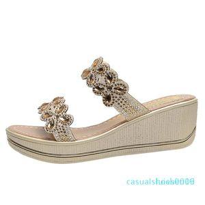 JAYCOSIN Sandals Mulheres Sólidos Calçados cor feminina Ladies Bohemia Cunhas Grosso Peep Toe Sandálias Chinelos Sapatos Partido Feminino c09 l16