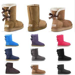 ugg boots Designer Femmes Bottes De Neige D'hiver De Mode Australie Classique Bottes Courtes Arc Cheville Genou Arc fille MINI Bailey Boot 2019 TAILLE 35-41 bateau libre
